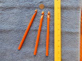 "11 mm Orange Rag Rug Crochet Hook  (Reclaimed Wood) ""N"" or ""O"" hook"