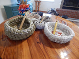Rag Rug Baskets Tutorial