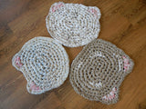 Cat Rag Rug or Placemat Easy Tutorial