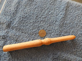 "14 mm ""P"" Ergonomic Oak Rag Rug Crochet Hook"