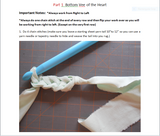 Heart Rag Rug Instructions
