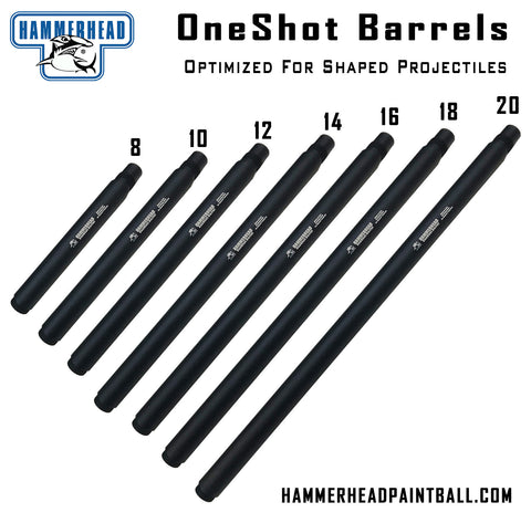 Hammerhead OneShot Plus Barrel Optimized For Shaped Projectiles (Tippmann 98 Threads)