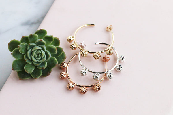 Brave & Beautiful - Hoop Earrings