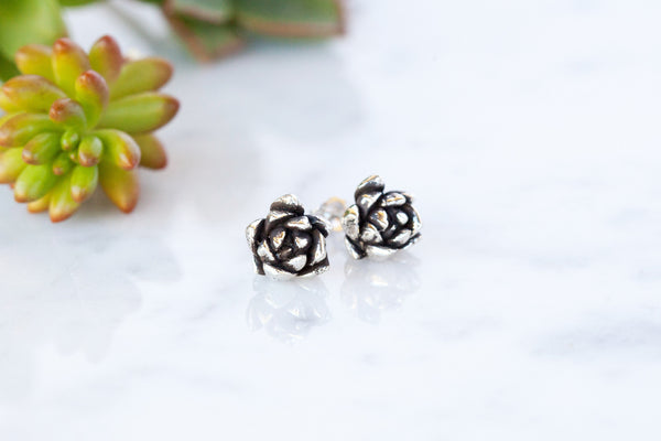 Ever After - Oxidised Stud Earrings