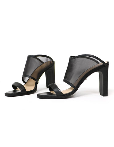 black 42 gold linx heel - elle bleu shoes