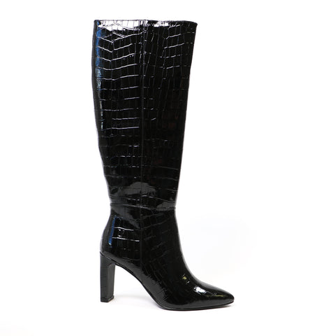 Black chinese laundry croc on babe evanna boot