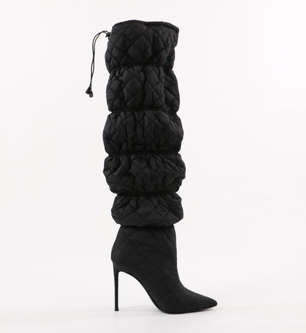 black steve madden silhouette mother puffer boot