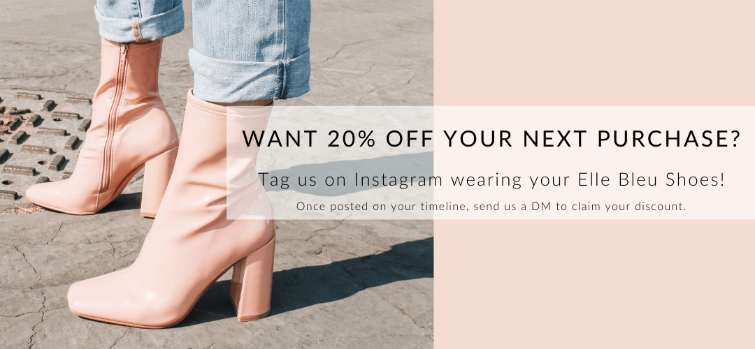 graphic - get 20% off your next purchase when you tag us on instagram.  See details below