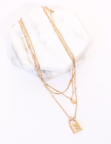 IN CHAIN SIGHT NECKLACE - Gold
