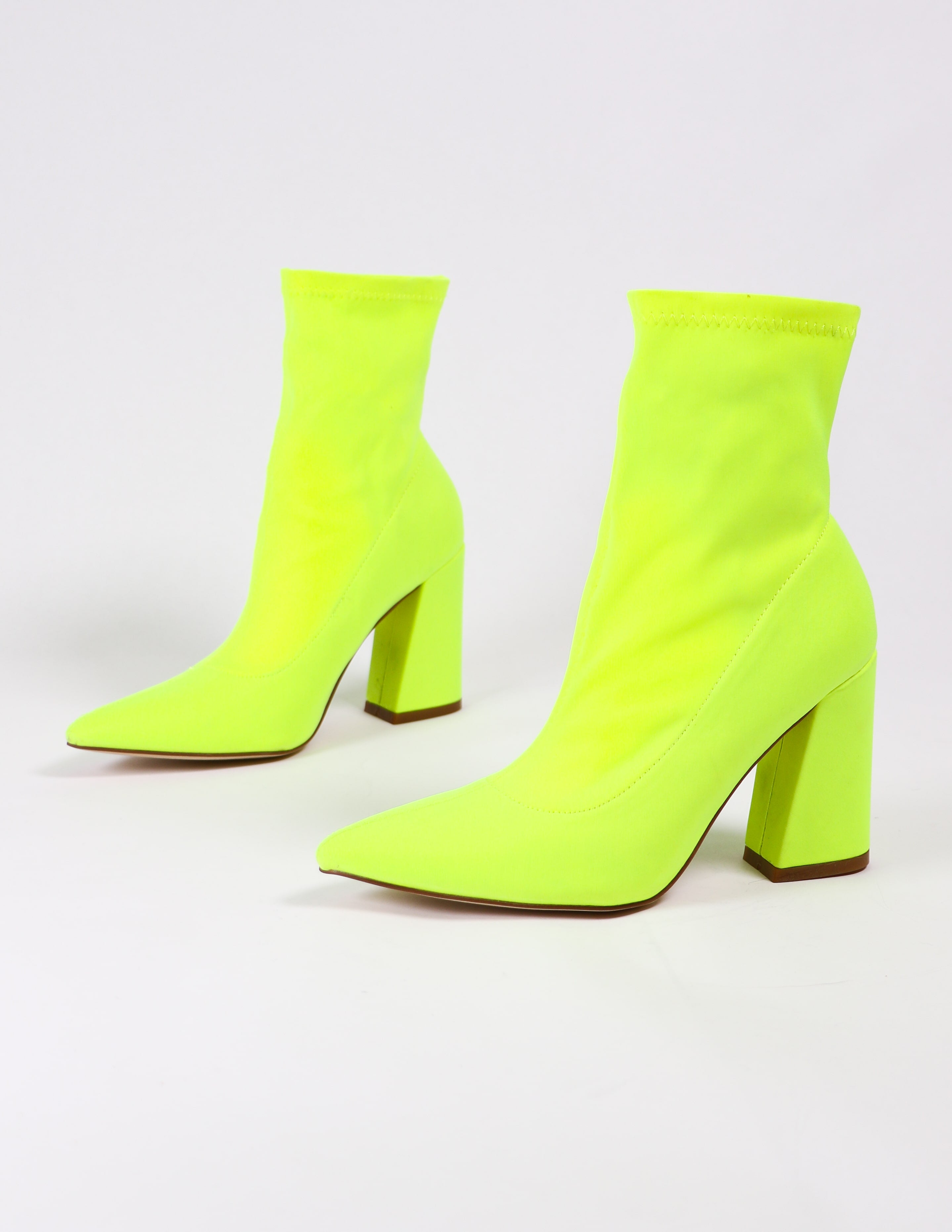 lime green highlight of my life bootie on white background
