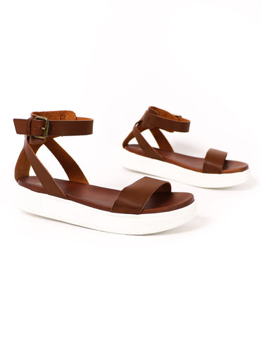 MIA Strappy To Cleat You Sandal - Cognac