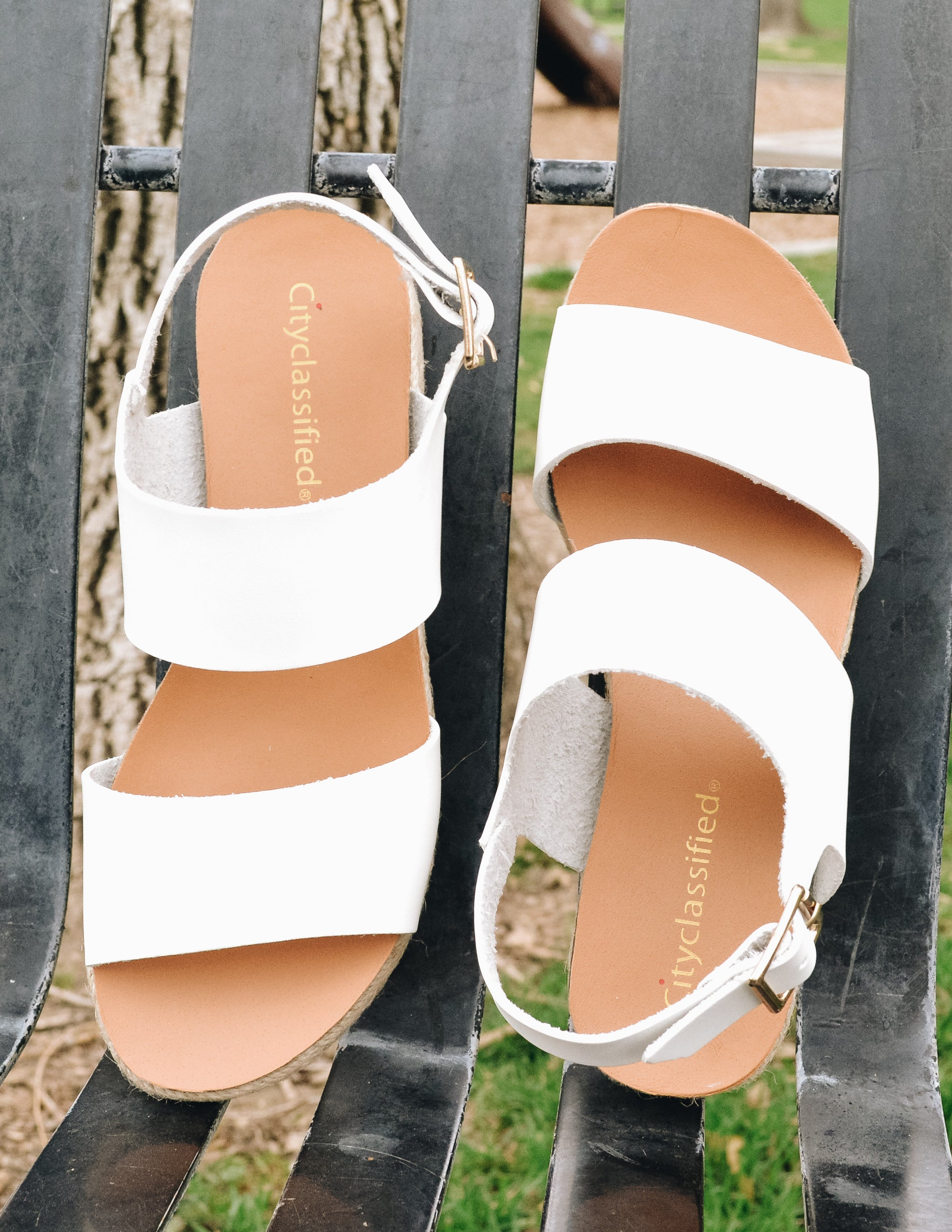 SUMMER YUM SANDAL - White - Elle Bleu Shoe Boutique