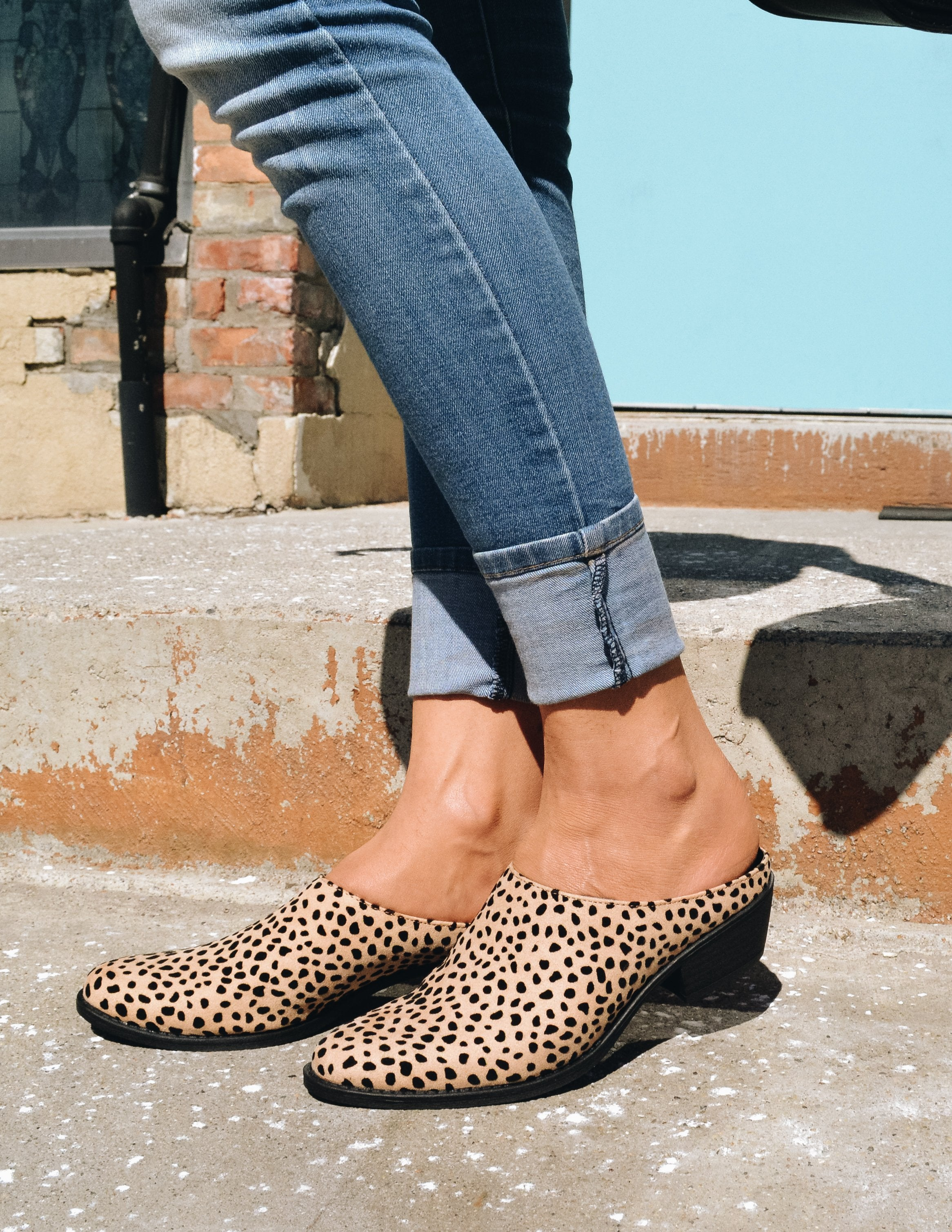 COOKIE DOUGH MULE - Cheetah - Elle Bleu Shoe Boutique