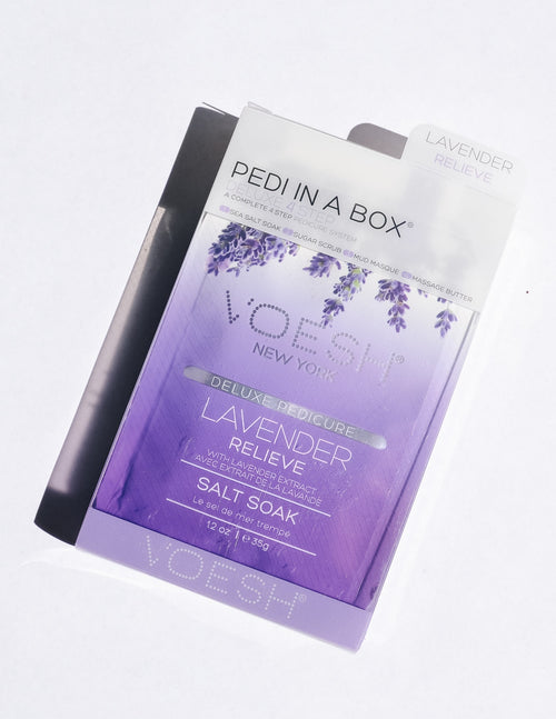 Lavender relieve pedi in a box - elle bleu
