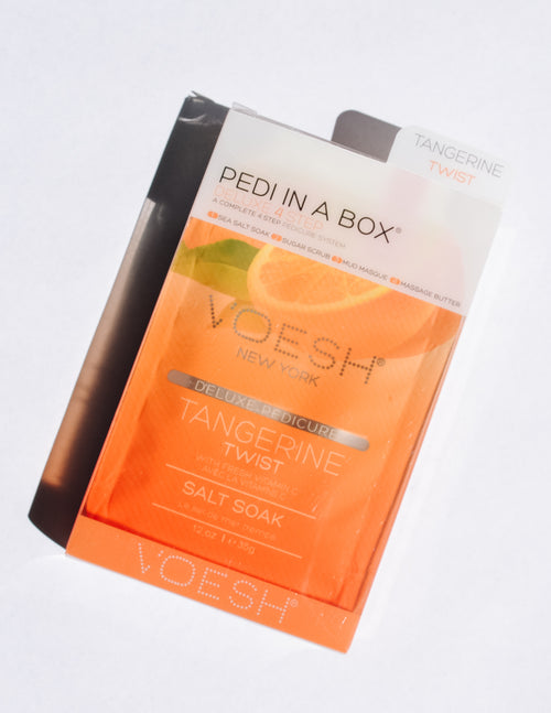 Tangerine twist pedi in a box - elle bleu