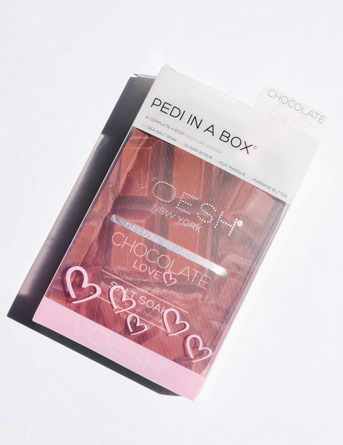 Chocolate love pedi in a box - elle bleu