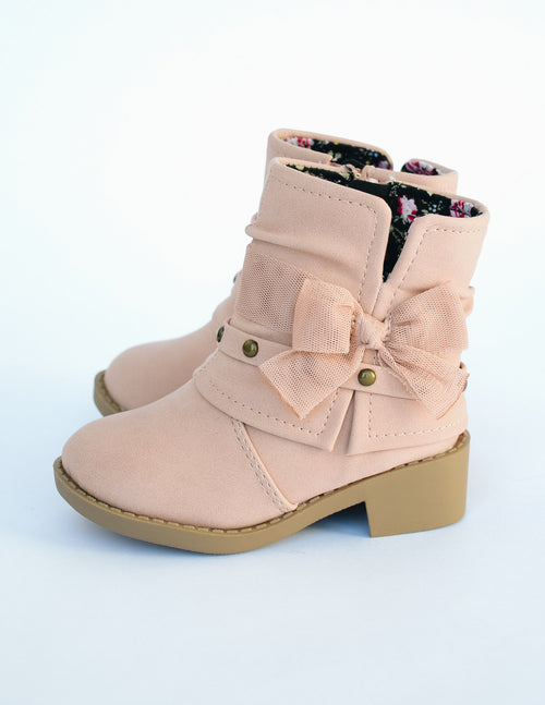 SMALL BUT FEISTY BOOT - Mauve - Elle Bleu Shoe Boutique