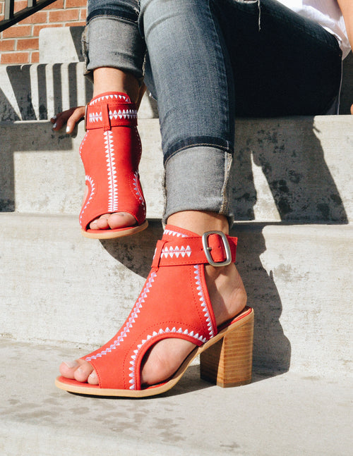 ODETTE - Red - Elle Bleu Shoe Boutique
