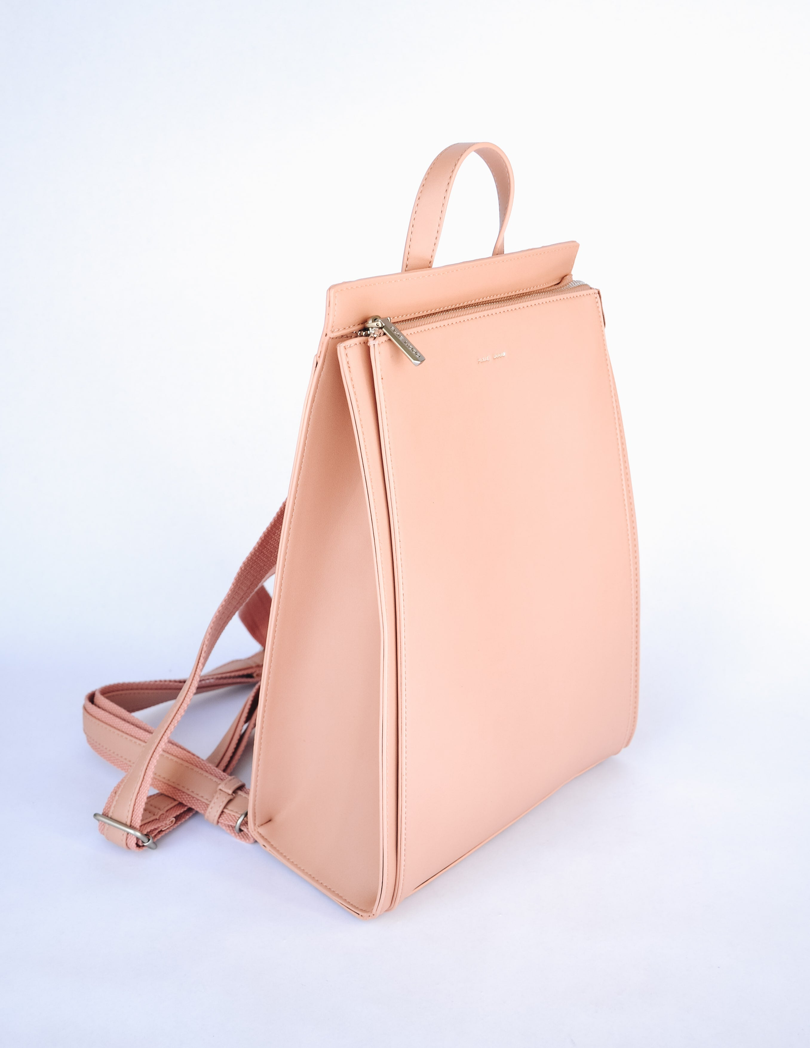 Pixie mood apricot carrie backpack with top zipper and top handle