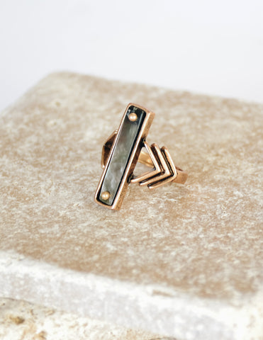TRIANGLE BARRETTE - Silver