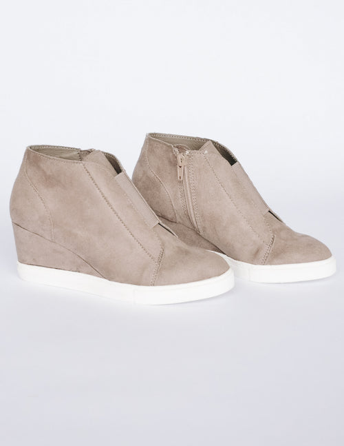 POWER PLAYER WEDGE - Grey - Elle Bleu Shoe Boutique