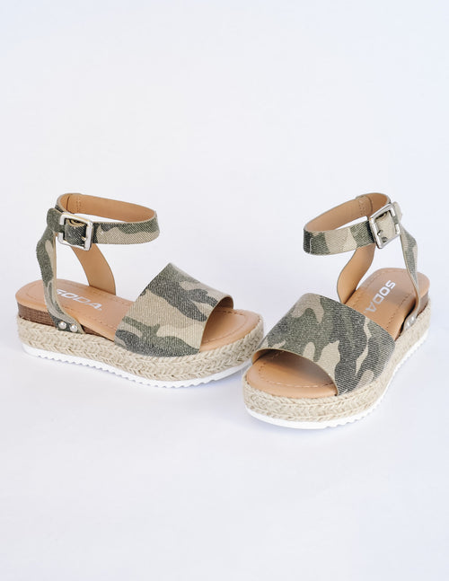 Camo walkin' on sunshine platform on white background - elle bleu shoes
