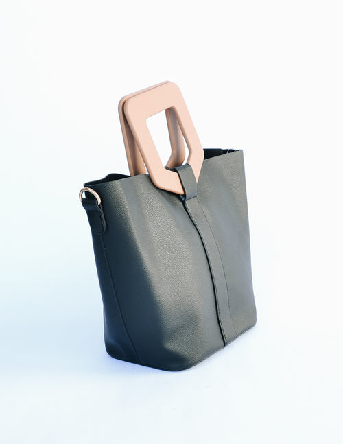 CHANTELLE HANDBAG - Black - Elle Bleu Shoe Boutique