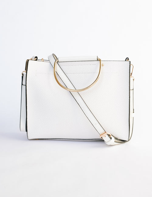 MCKENNA BAG - White - Elle Bleu Shoe Boutique