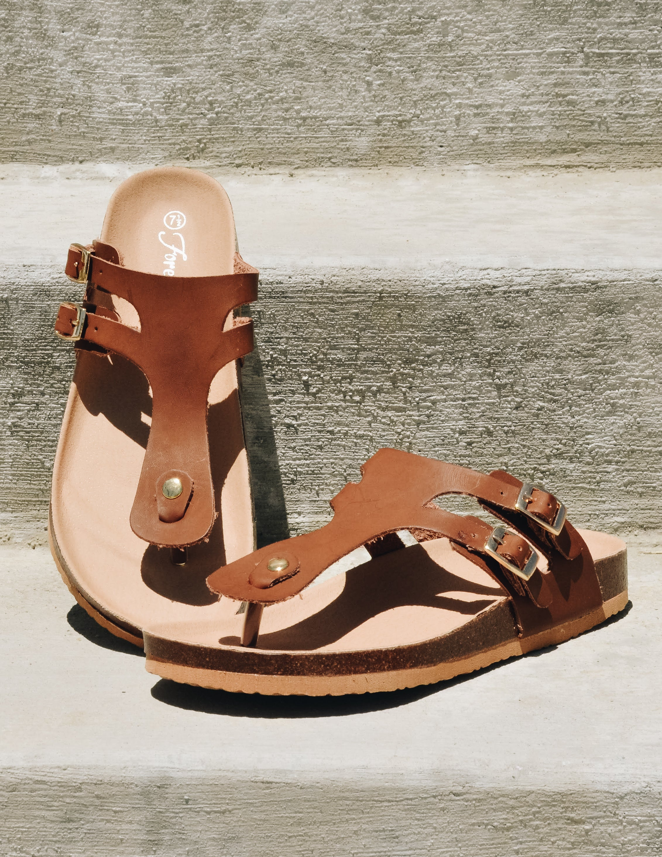 SO SHADY SANDAL - Brown - Elle Bleu Shoe Boutique
