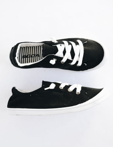 RUN ALONG NOW SNEAKER - Black Heather