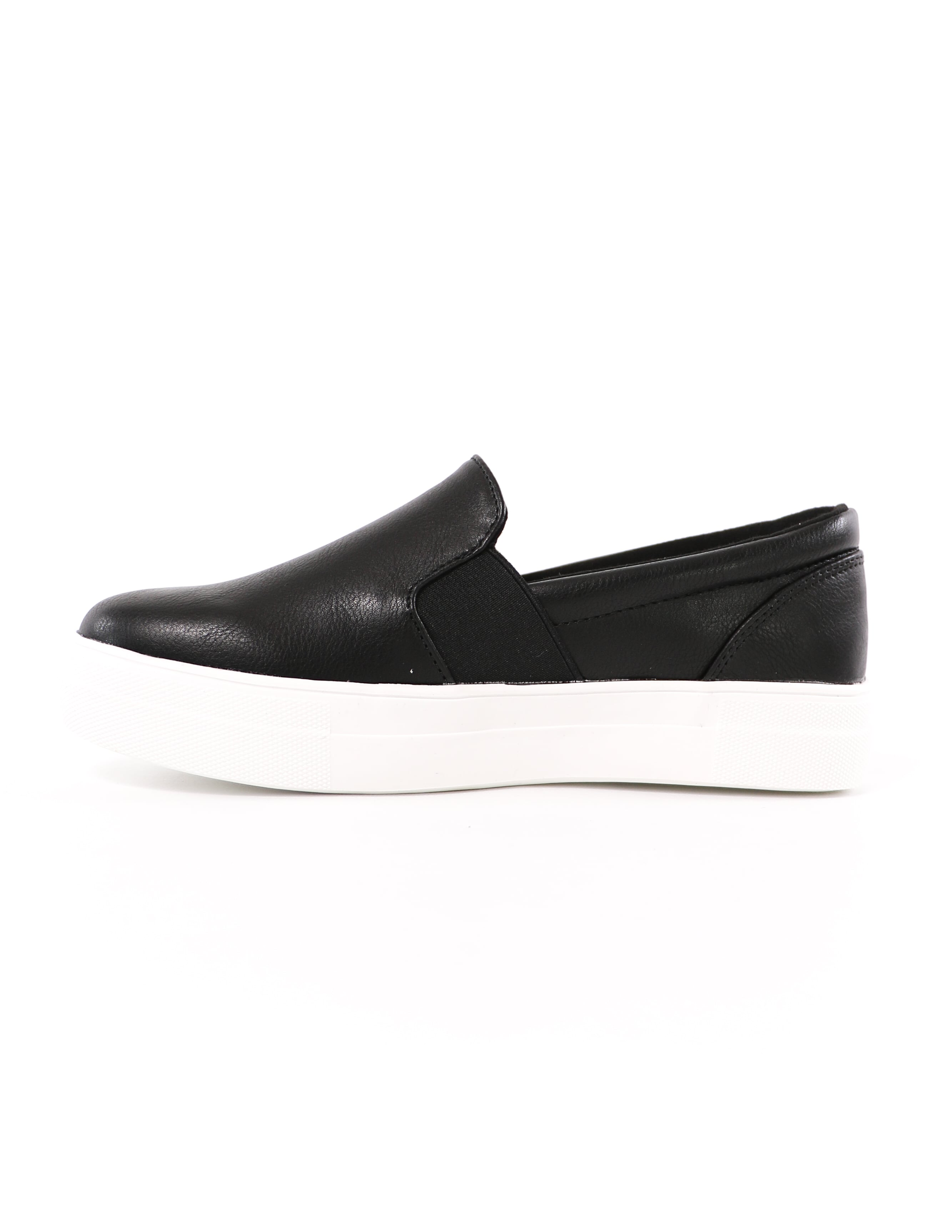 kickin' it sole-o black slip on sneaker - elle bleu shoes
