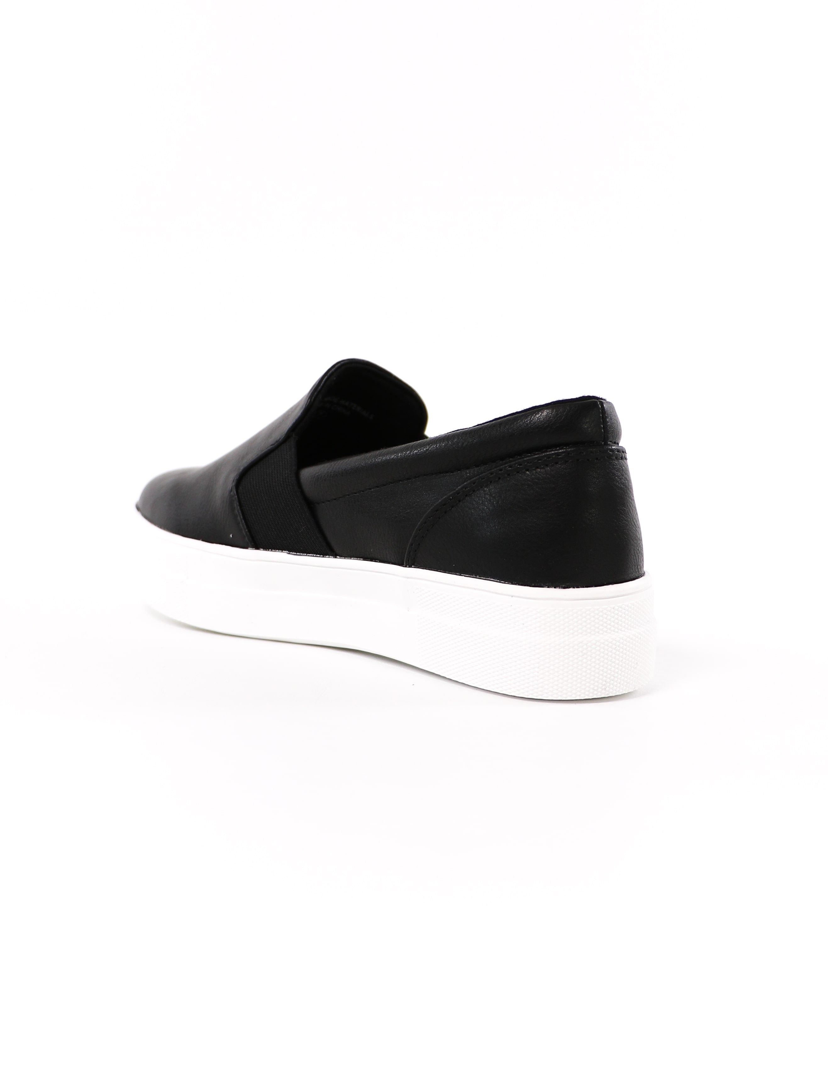 back of the black kickin' it sole-o slip on sneaker - elle bleu shoes