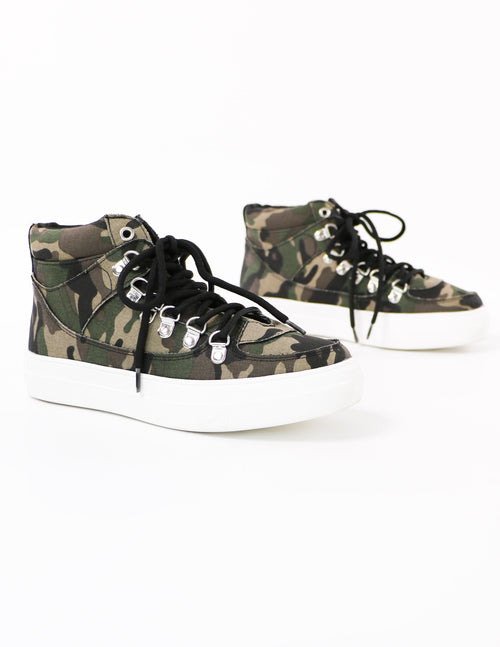 camo in the loop high top sneakers - elle bleu shoes