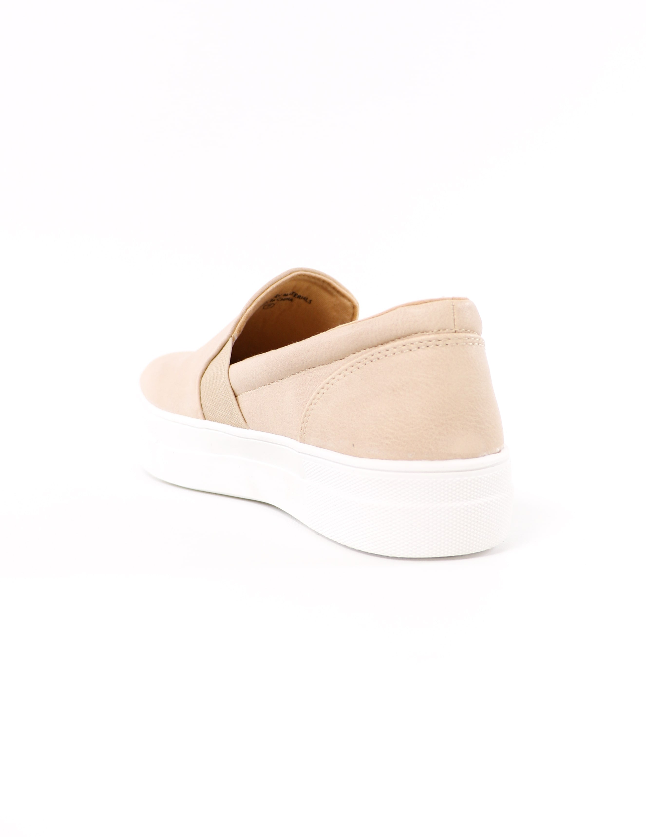 back of the natural kickin' it sole-o slip on sneaker - elle bleu shoes