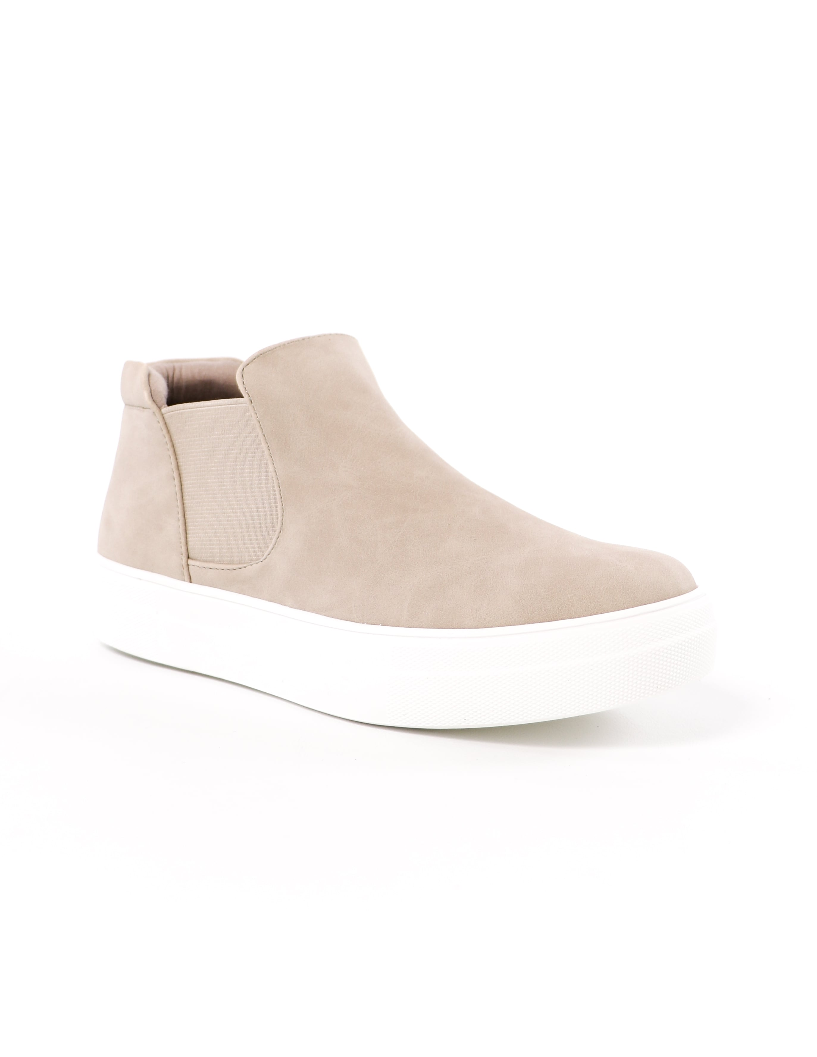 front of the sand now or never vegan leather platform high top sneaker - elle bleu shoes