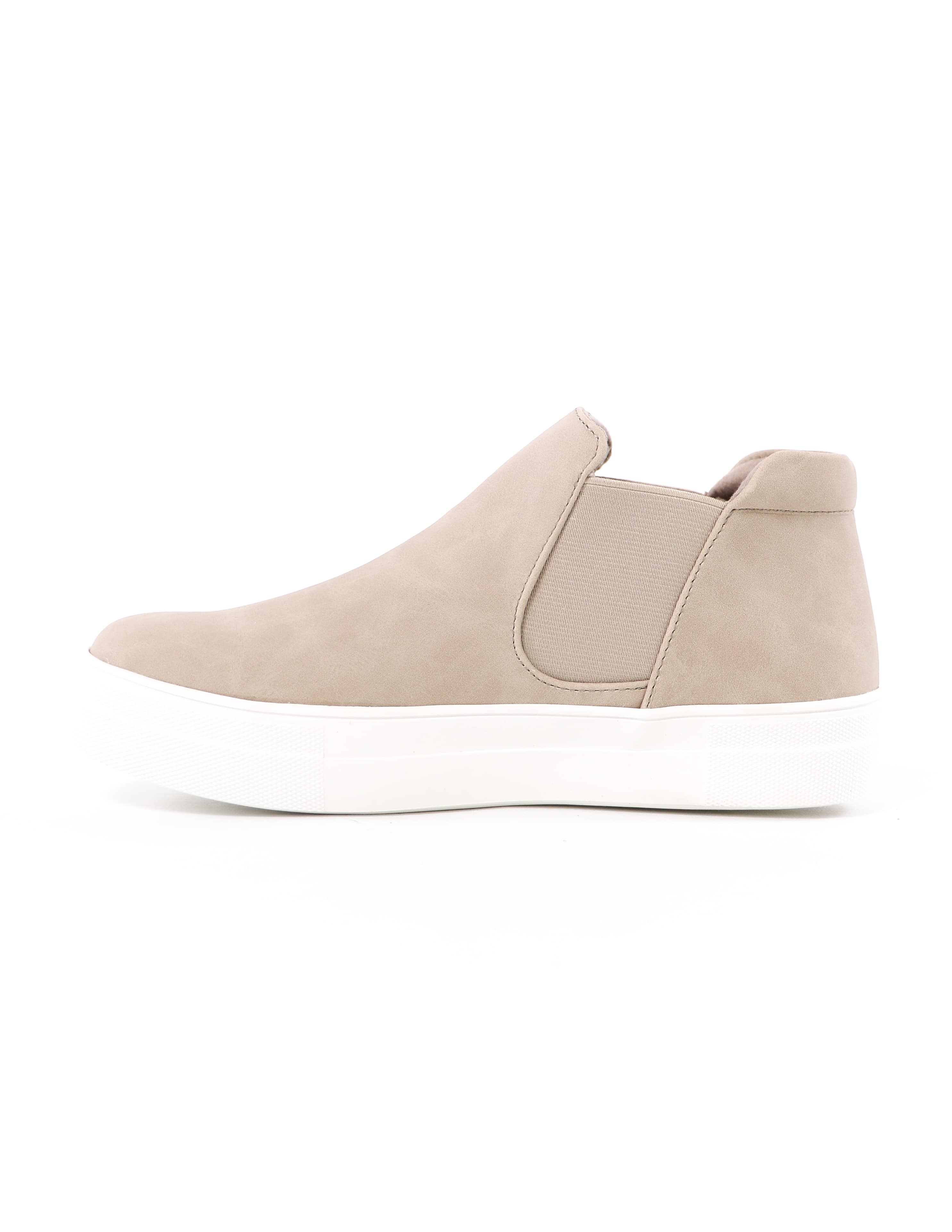 sand now or never soda high top platform sneaker with white rubber sole - elle bleu shoes