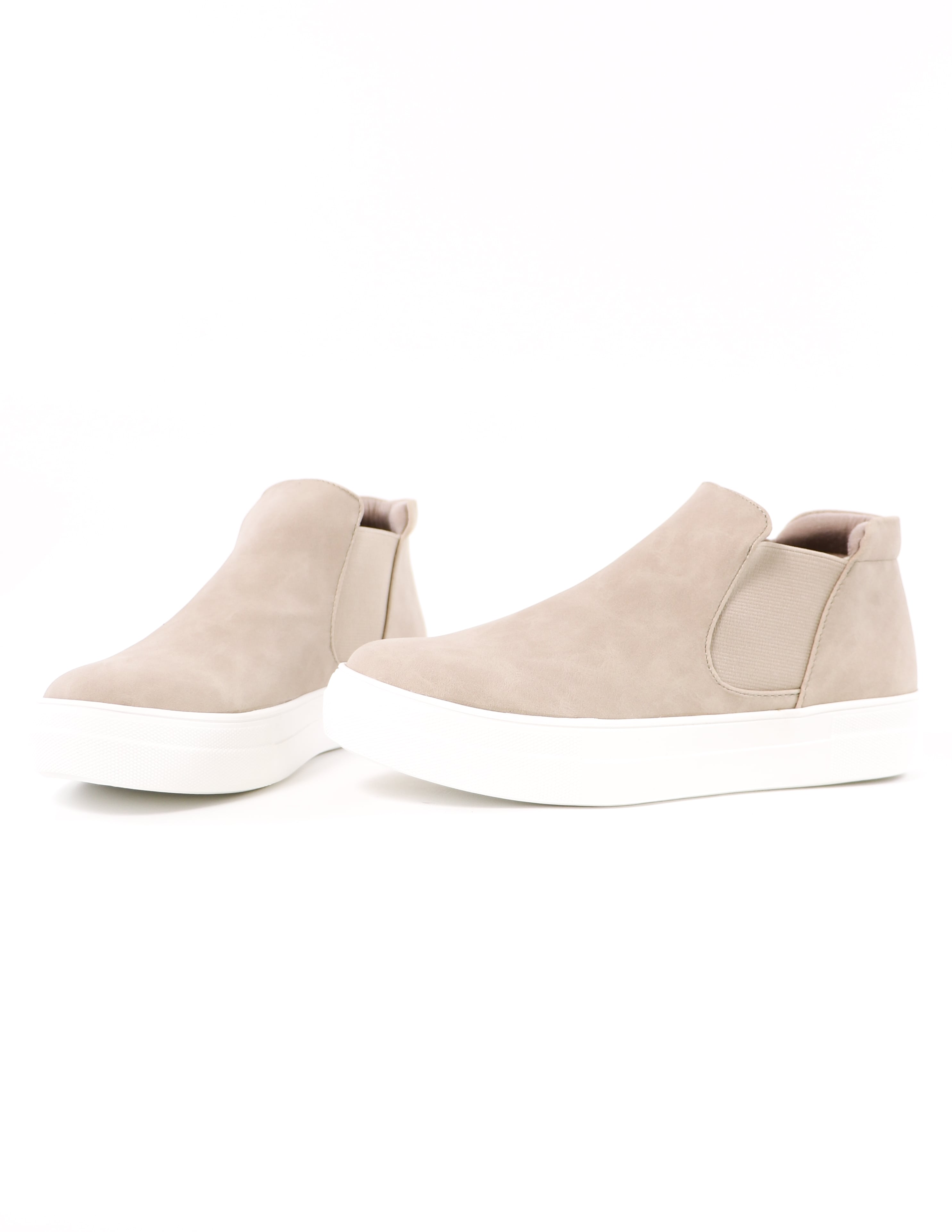 high top sand now or never platform sneakers on white background - elle bleu shoes