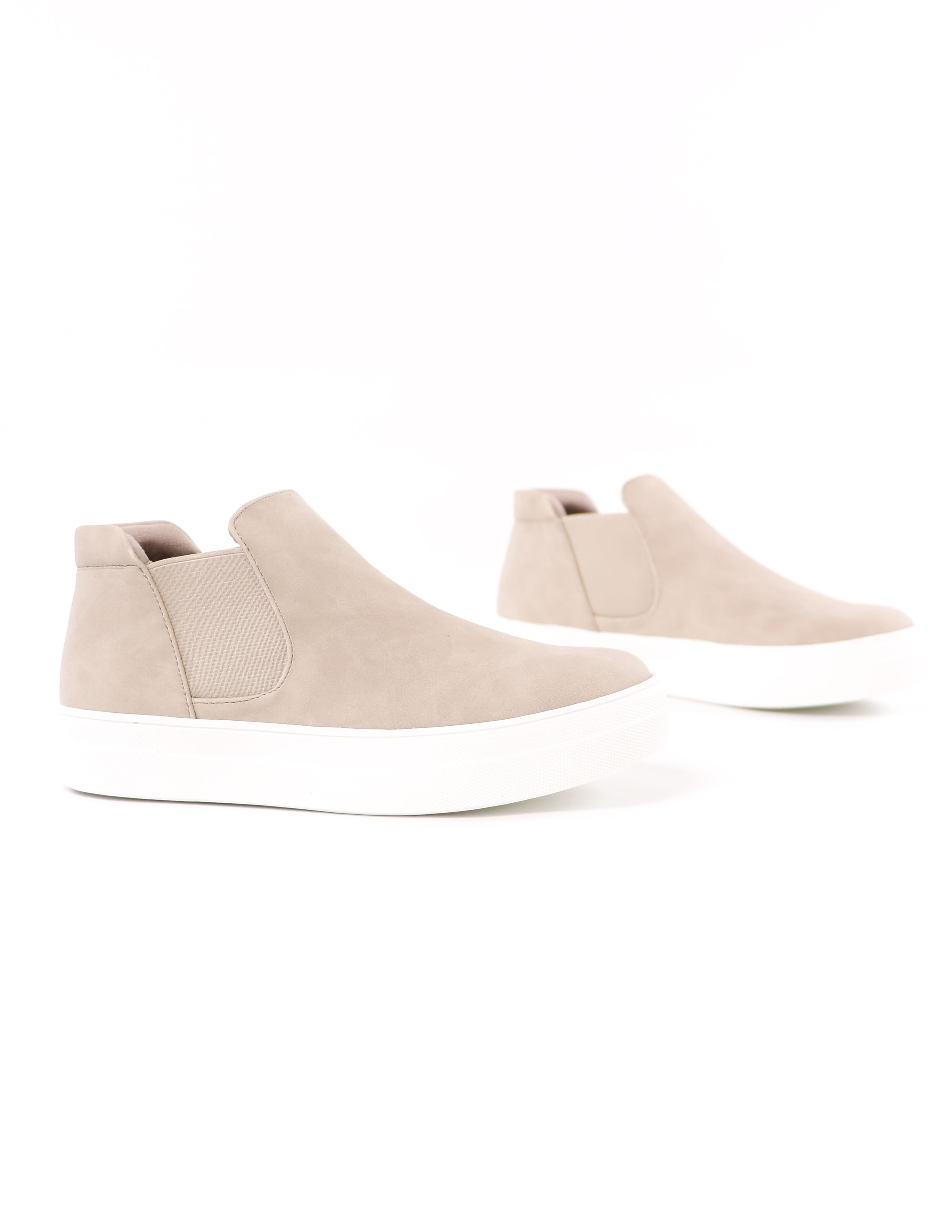 close up of the sand now or never platform high top sneakers - elle bleu shoes