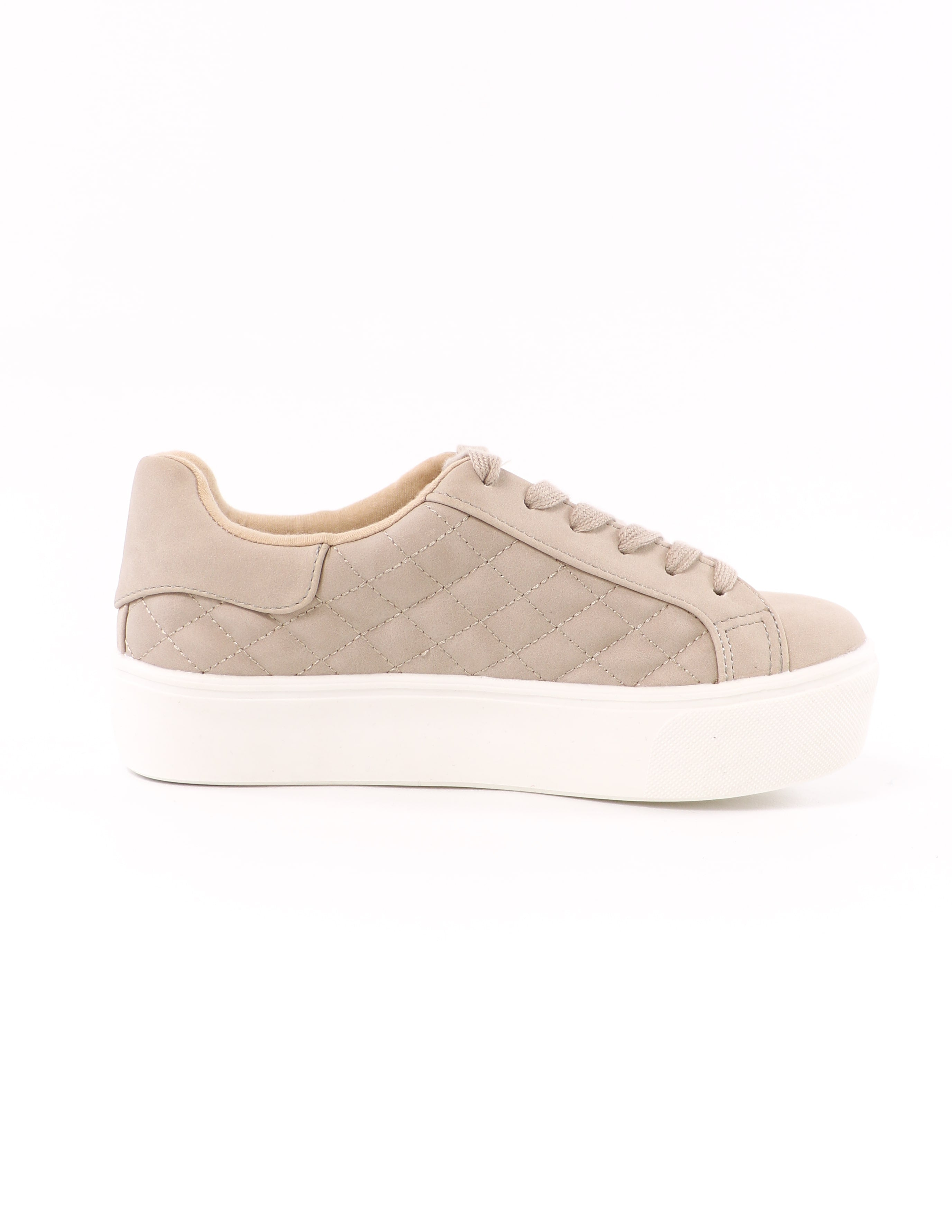 side of the quilted quilt messin' around platform sneaker with white sole - elle bleu shoes