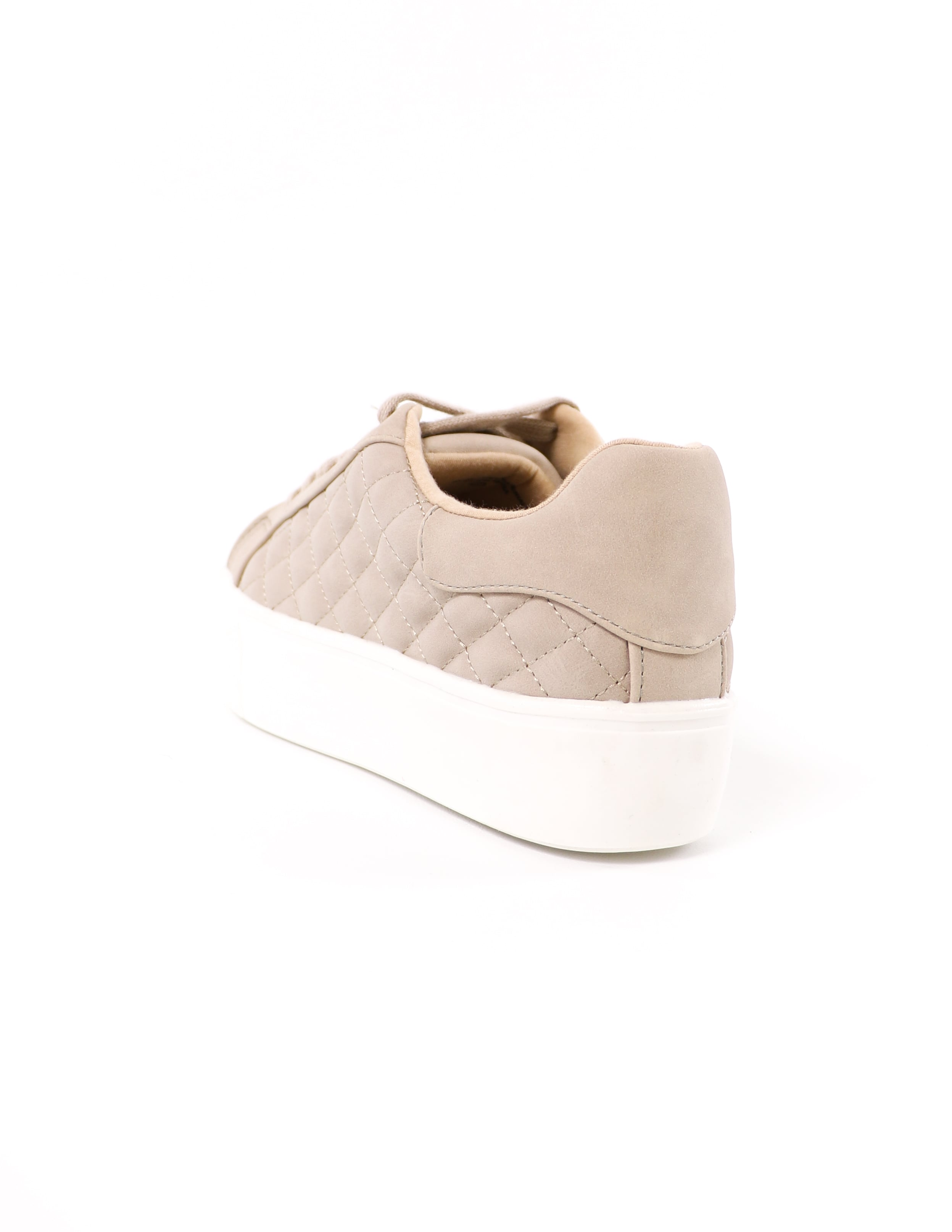 back of the quilted sand quilt messin' around platform sneaker - elle bleu shoes