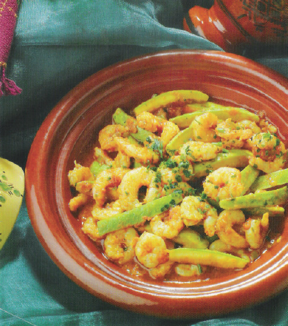 Tagine med Courgette og Rejer
