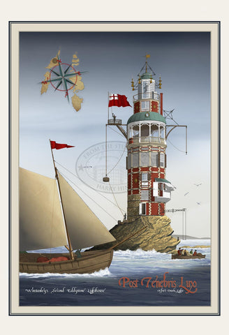 Winstanley's 2nd Eddystone Lighthouse Print