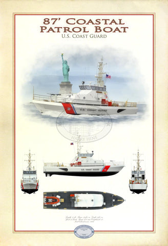 87' Coastal Patrol Boat Limited Edition Print