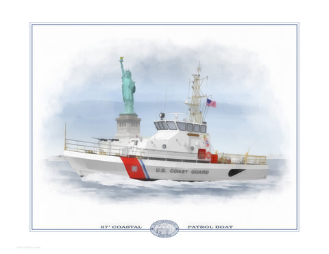 87' Coastal Patrol Boat Open Edition Print
