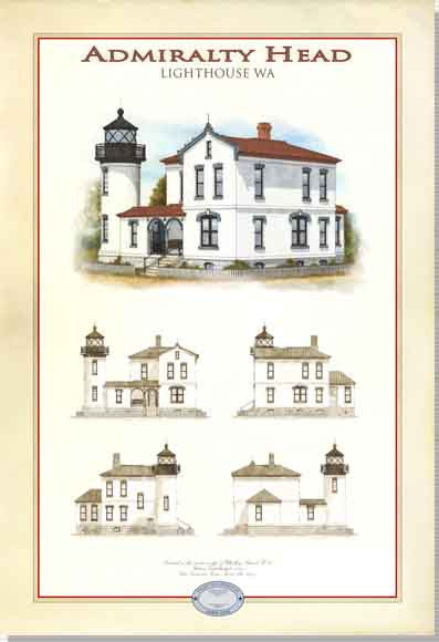 Admiralty Head Lighthouse Limited Edition Print