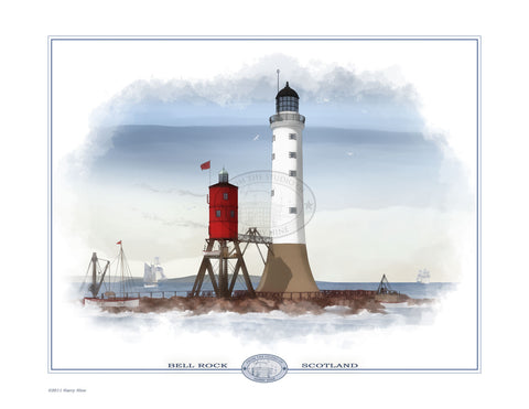 Bell Rock Lighthouse Open Edition Print