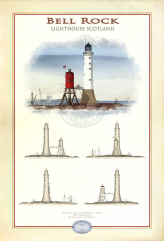 Bell Rock Lighthouse Limited Edition Print