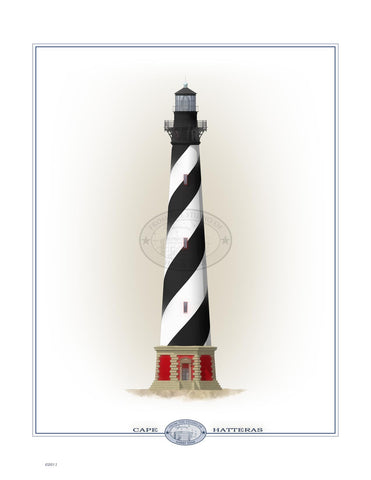 Cape Hatteras Lighthouse (exterior) Open Edition Print