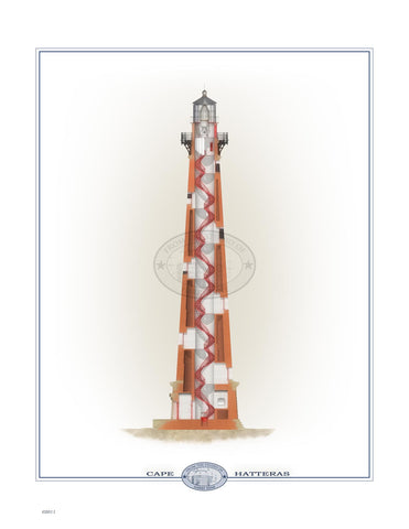 Cape Hatteras Lighthouse (interior) Open Edition Print