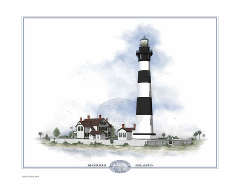 Morris Island Lighthouse Open Edition Print